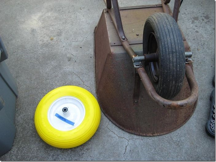7 Replacing wheelbarrow wheel