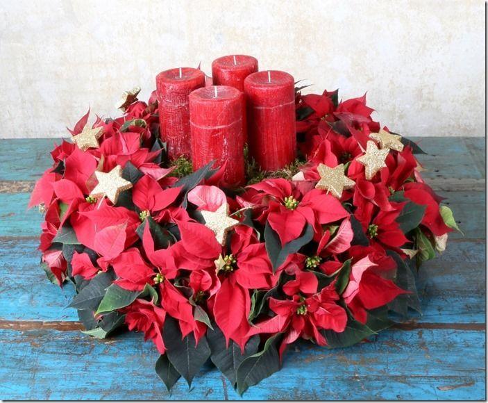 Rotkaeppchen, Weihnachtssternadventskranz, Handgriffe