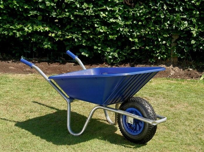 2 Blue wheelbarrow