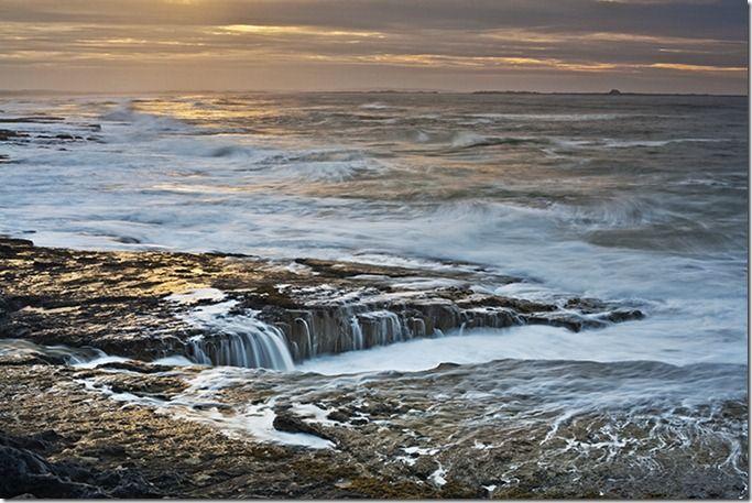 Budle Bay, looking toward Lindisfarne, Bamburgh, Northumberland, England