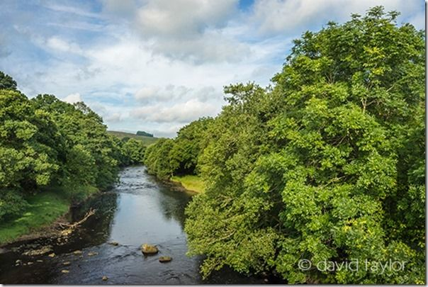 River North Tyne from the Falston bridge on the road to the village, Northumberland National Park, England