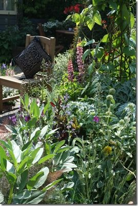 Veg and flower border