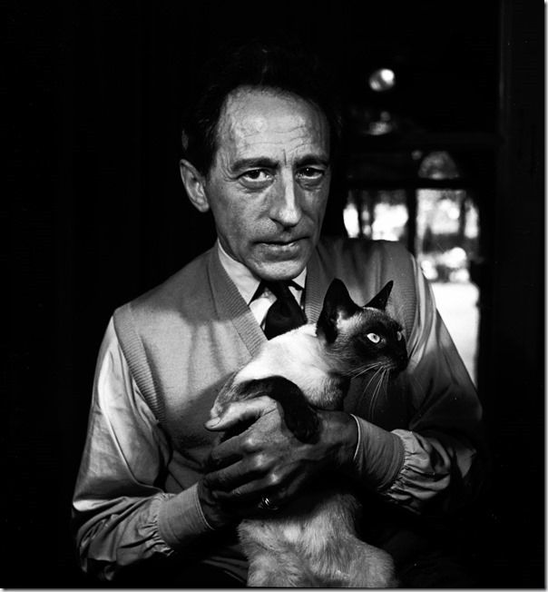 Jean Cocteau (with Madeleine), Paris, 1950