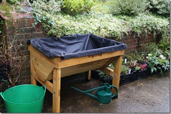 Veg Trug and Liner in position