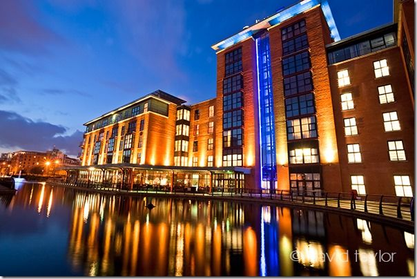 The Radisson Blu Hotel built on the site of the municipal gasworks, Beflast, Northern Ireland