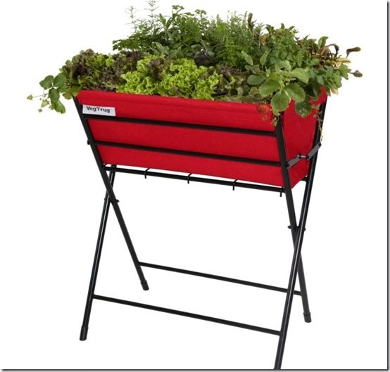 vegtrug-poppy black-frame-red-planter-popkt008rd